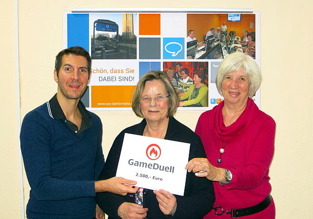Senioren Computer Club Berlin-Mitte will acquire robotic training modules with GameDuell's festive donation