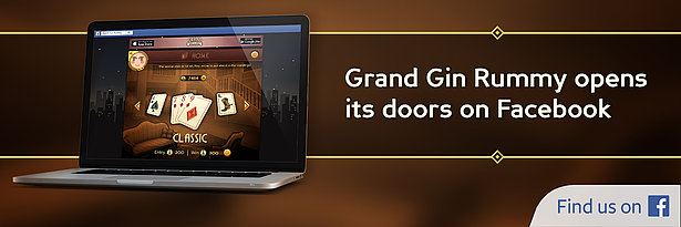 Grand Gin Rummy available now on Facebook