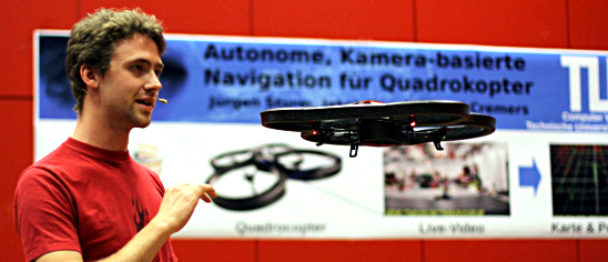 TechTalk Explore: Autonomous Navigation of Quadrocopters with Jakob Engel